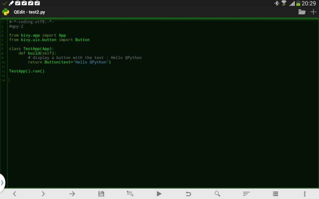 QPython code editor