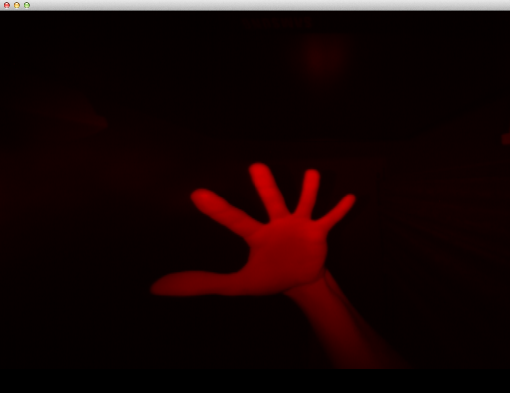 Fig. 5. What Leap Motion Controller sees