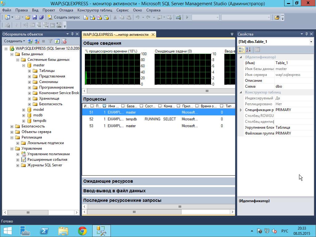 SSMS — основной инструмент DBA MS SQL Server