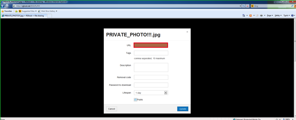 Fig. 8. The application isolated in the sandbox managed to steal the private photo