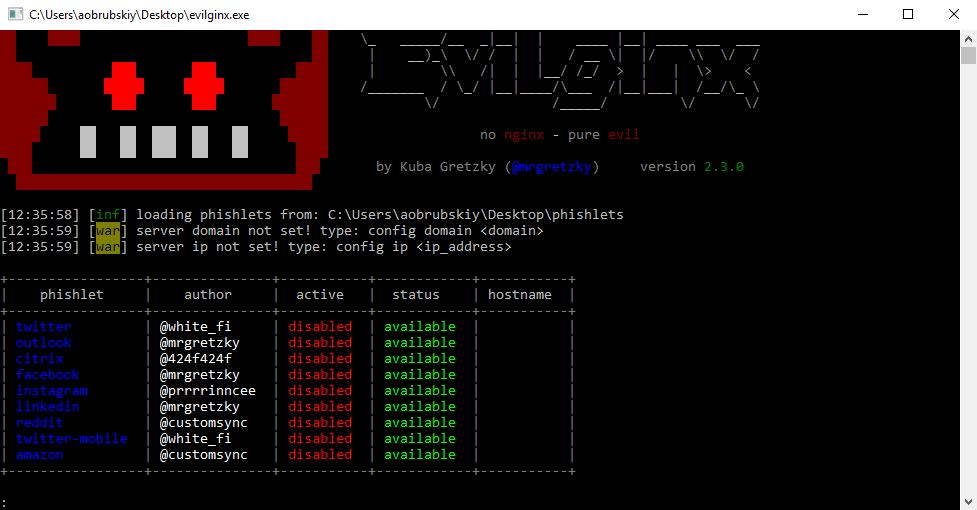 Evilginx 2 for Windows