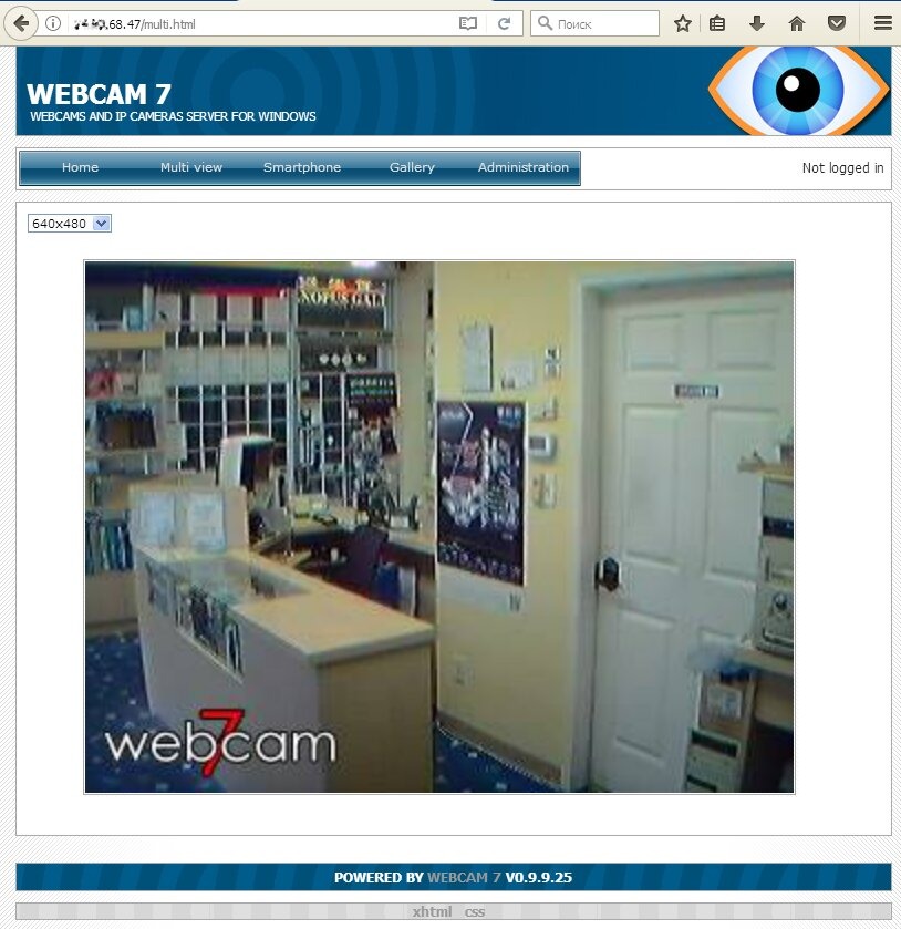 Webcam 7 streams video without authorization