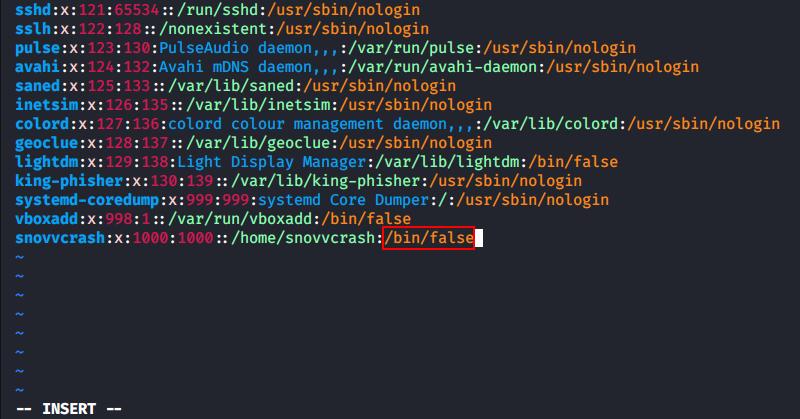 Editing the login shell for snovvcrash