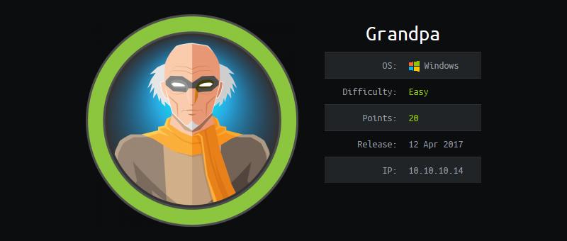 Hack The Box - Grandpa