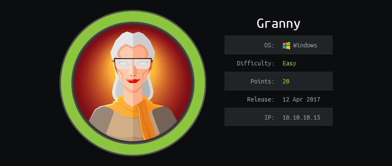 Hack The Box - Granny