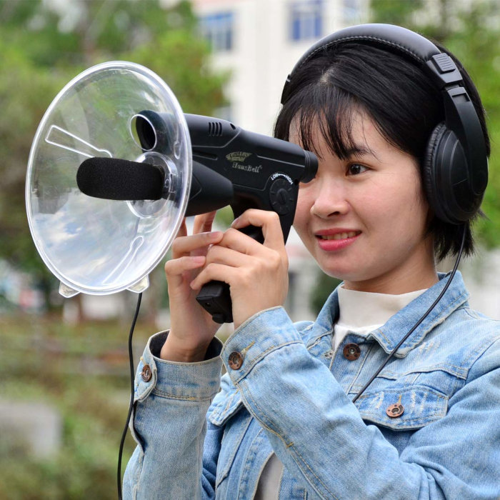 Parabolic microphones cost only $30-40